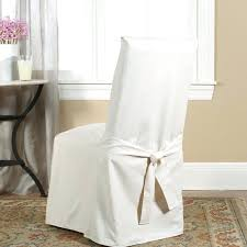 Dining Chair Slipcovers Uk Slipcover Beautiful Sure Fit Cotton Duck Full Length Room