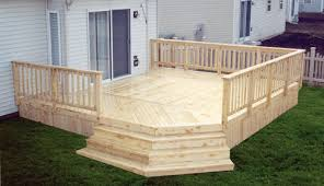 16 x 18 attached deck with solid deck board apron at menards