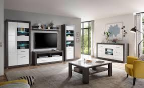etero wohnzimmer set 479cm concret weiß hochglanz vitrine modern wohnwand