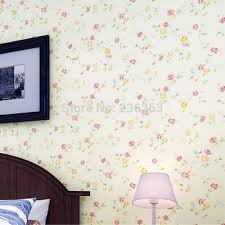 Pink Flower Wallpaper For Bedrooms Rustic Non Woven Bedroom Romantic Small Living Room Wall 520749