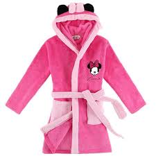 Minnie Mouse Child Bathrobe 100 Polyester Kids Bathrobes Beach Pool Swimming Poncho Towel Coral Girls Boys Sleepwear