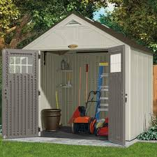 Tuff Sheds At Home Depot by Amazon Com Suncast Bms8700 Tremont 8 U0027 X 7 U0027 Storage Shed Garden
