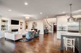 Great Room With Gorgeous Hardwood Flooring Throughout