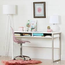 Acrylic Desk Chair With Wheels by South Shore Annexe Clear Pink Blush Acrylic Office Chair With