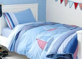 Seaside Duvet Cover Kids Pale Blue Bedding With Sailboats Seaside