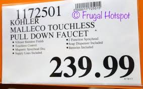 Kohler Touchless Faucet Battery by Kohler Malleco Touchless Pull Down Faucet Costco Price Frugal