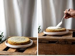 mohn rührkuchen mit zitronen skyr creme