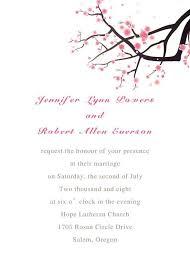 Free Response Card EWI064 Cheap Elegant Cherry Blossom Wedding Invitation