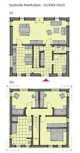 grundriss stadtvilla quadratisch gerade treppe 4 zimmer