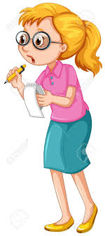 Female Journalist Taking Notes Illustration Royalty Free Cliparts Rh 123rf Com