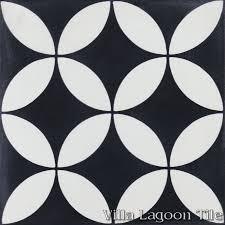 circulos b black and white cement tile villa lagoon tile