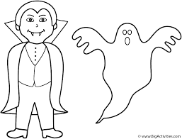 Coloring Page Halloween Ghosts Pages