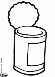 Canned Food Clipart Black And White 06
