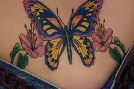 Lower Back Flower Tattoos