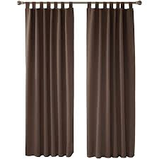 deconovo verdunkelungsvorhang schlaufen gardinen schlafzimmer vorhang blickdicht schlaufen 175x140 cm braun 2er set