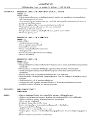 Download Telephone Operator Resume Sample As Image File