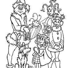 The Grinch And His Dog Max Kids Coloring Page