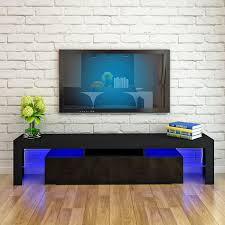 TMullen UK STOCK Modern 200cm TV Unit High Gloss Living