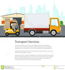 100 Truck And Transportation Poster Warehouse Services Stock Vector