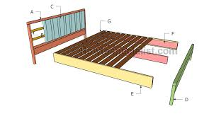 How To Build A King Size Platform Bed Plans by King Platform Bed Plans Howtospecialist How To Build Step By