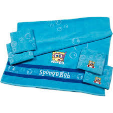 spongebob 5 piece bath towel set walmart com