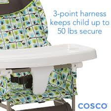simple fold high chair elephant squares cosco kids