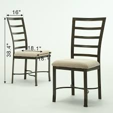Amazon.com - Bestmart INC 2Pcs Metal Frame Dining Chairs Upholstered ... Set Of 4 Ding Chairs Pu Leather Steel Frame High Back Home Buy District Elm Wood And Metal Chair Pair Online Cfs Uk Antique Rusty Industrial Tolix Bar Stool Power Surge Technologies Ltd Fniture Mats Adjustable Nrs Healthcare China Stainless Golden White B8661gy Executive Gun Finish Vintage Style Stackable Highback Amazoncom Costway April Highback Chair Vestre Mara With Chrome Legs 2 Zuri Shop Merax Chic For