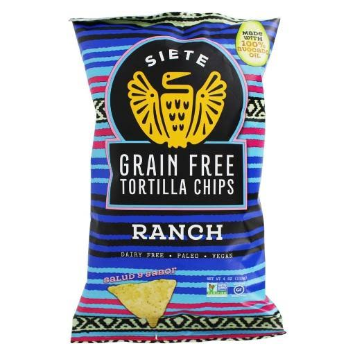 Siete Tortilla Chips, Grain Free, Ranch - 4 oz