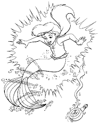 The Mermaid 2 Coloring Pages Baby Cooloring