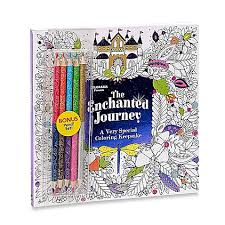 ColoramaTM Enchanted Journey Coloring Book With Colored Pencils