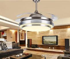 2018 31 8 9 modern chrome shaped led ceiling fan lights with