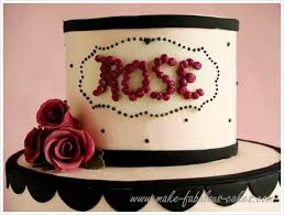 Celebrate a special milestone with a birthday cake with roses