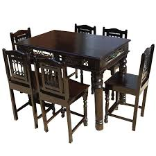 Philadelphia Transitional Counter Height 7 Piece Dining Table Chairs