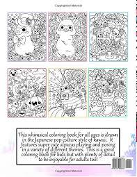 Pleasant Design Ideas Kawaii Coloring Book Alpacas A Super Cute Volume 4