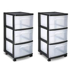 Sterilite 4 Drawer Cabinet by Sterilite 3 Drawer Cart Storage Plastic Box Organizer Cabinet Home