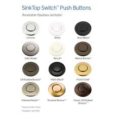 sinktop switch button satin nickel