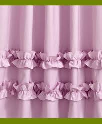 Purple Waterfall Ruffle Curtains by Sweet Pink Ruffle Curtains For Young Girls U0027 Room Naindien
