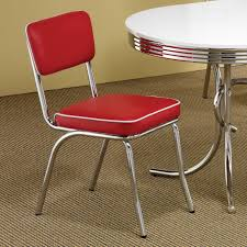 Coaster Chrome Plated Retro Dining Chair In Red By Coaster Furniture ... New Retro Ding Chair Fniture Tables Chairs On Carousell Cheap Diner Find Deals Line At Baxton Studio Zachary Chic French Vintage Set Of 2 1960s 6 Danish Rosewood Aluk High Stosfolding Chairs Hand Leisure Pack Grey Robert Dyas Tan Wing Back Lori Kitchen Dinette White Walnut Wood 4 Vintage Ding 100580 Vintage Ding Chair Black Red