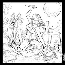 Buffy The Vampire Slayer Coloring Pages