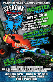 Monster Truck Summer Meltdown – Night Show | Seekonk Speedway