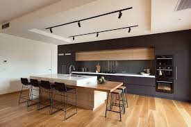 black kitchen walls modern with bar stool wall mount range