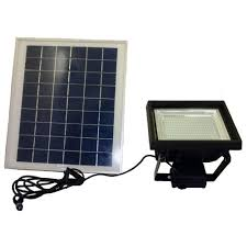 solar goes green solar bright black 108 led outdoor flood