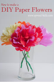 Crepe Paper Flowers Are In Cheap And Easy To Make