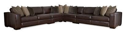 Bernhardt Foster Leather Sofa by Sectionals Bernhardt