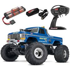 100 Monster Truck Remote Control Traxxas BIGFOOT Classic 2WD RTR RC WBattery Quick Charger
