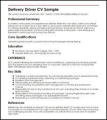 Sample Driver Cv