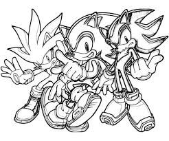 Super Shadow Hedgehog Coloring Pages Sonic Generations Silver The Team