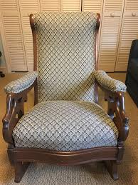 Gooseneck Rocking Chair For Sale | Antiques.com | Classifieds Gooseneck Chair Platform Rocking Antique Monteverest Chesterfield Ay96 Jnalagora Lincoln Rocker Chair On Bonanzacom Owls Buffalo Check Chairish Mahogany Arm Pristine Collectors Weekly I Have A Rocking That Has Devils Face At The Top Has Hound Childs Upholstered Whosale 19th Century Chairs 95 For Sale 1stdibs What Is Value Of Gooseneck Rocker Mostly Upholstery Beauty Within Clinic Swan Ideas