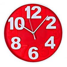 Horloge Mural 3d Achat Vente Pas Cher Maison Futee Horloge Murale Design Chiffres En Relief ø 30 Cm
