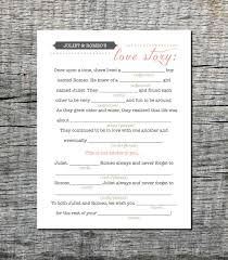 Halloween Mad Libs by Mad Libs Love Story Wedding Card For Guests Wedding Mad Libs